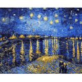 Starry Night Lake - Paint By Numbers Kit For Adults - Easy Paint By Numbers - DIY Miss