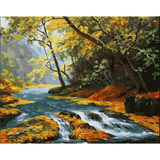 River - Paint By Numbers Kit For Adults - Easy Paint By Numbers - DIY Land