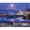 Night at Shore - Paint By Numbers Kit For Adults - Easy Paint By Number Kits for adults- DIY Ocean