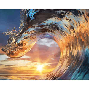 Wave n Sunset - Paint By Numbers Kit For Adults - Easy Paint By Number Kits for adults- DIY Land