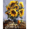Sun Flower - Paint By Numbers Kit For Adults - Easy Paint By Number Kits for adults- DIY Flowers