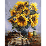 Sun Flower - Paint By Numbers Kit For Adults - Easy Paint By Numbers - DIY Flowers