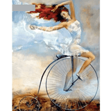 Bike Girl - Paint By Numbers Kit For Adults - Easy Paint By Number Kits for adults- DIY Miss