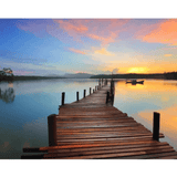Sunset & Bridge- Paint By Numbers Kit For Adults - Easy Paint By Numbers - DIY Land