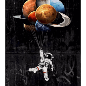 Planet And Astronaut - Paint By Numbers Kit For Adults - Easy Paint By Numbers - DIY Kids
