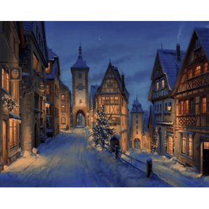 Christmas Night - Paint By Numbers Kit For Adults - Easy Paint By Number Kits for adults- DIY City