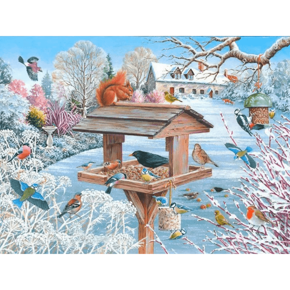 Little Birds On Tree - Paint By Numbers Kit For Adults - Easy Paint By Number Kits for adults- DIY Objects