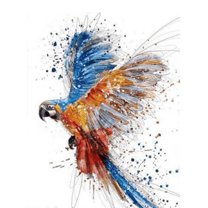 Macaw Beauty - Paint By Numbers Kit For Adults - Easy Paint By Numbers - DIY Animals