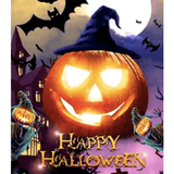 Happy Halloween - Paint By Numbers Kit For Adults - Easy Paint By Numbers - DIY Land