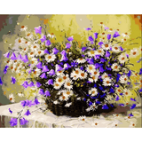 Purple Colorful Flower - Paint By Numbers Kit For Adults - Easy Paint By Numbers - DIY Flowers