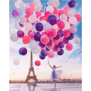 Romantic Balloon - Paint By Numbers Kit For Adults - Easy Paint By Numbers - DIY City