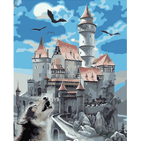 Old Castle - Paint By Numbers Kit For Adults - Easy Paint By Number Kits for adults- DIY Miss