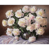 White Rose - Paint By Numbers Kit For Adults - Easy Paint By Numbers - DIY Flowers