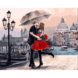 Romantic Kiss - Paint By Numbers Kit For Adults - Easy Paint By Numbers - DIY Love