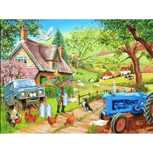 Countryside House - Paint By Numbers Kit For Adults - Easy Paint By Number Kits for adults- DIY Objects