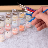 Snow Season - Paint By Numbers Kit For Adults - Easy Paint By Numbers - DIY Snow