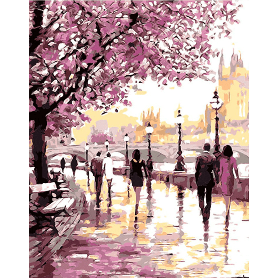 Romantic Walk Love - Paint By Numbers Kit For Adults - Easy Paint By Number Kits for adults- DIY Love