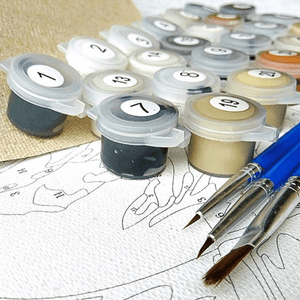 Childhood - Paint By Numbers Kit For Adults - Easy Paint By Numbers - DIY Love