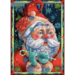 Thinking Santa - Paint By Numbers Kit For Adults - Easy Paint By Numbers - DIY Miss