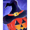 Evil Pumpkin Lantern - Paint By Numbers Kit For Adults - Easy Paint By Number Kits for adults- DIY Land