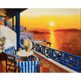 Sunset Ocean - Paint By Numbers Kit For Adults - Easy Paint By Number Kits for adults- DIY Ocean