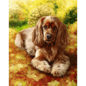 Waiting Dog - Paint By Numbers Kit For Adults - Easy Paint By Number Kits for adults- DIY Animals