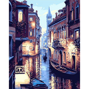 Venice Night - Paint By Numbers Kit For Adults - Easy Paint By Number Kits for adults- DIY City