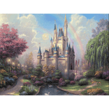 Rainbow Castle - Paint By Numbers Kit For Adults - Easy Paint By Number Kits for adults- DIY Land