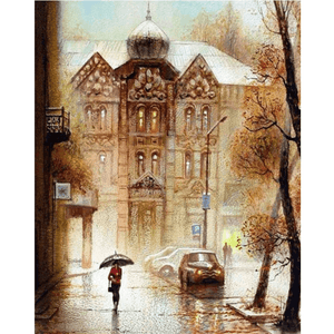 Russian Street - Paint By Numbers Kit For Adults - Easy Paint By Numbers - DIY City