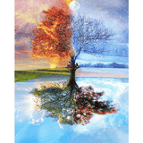 4 Seasons - Paint By Numbers Kit For Adults - Easy Paint By Numbers - DIY Land