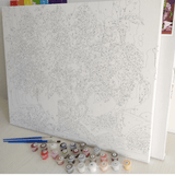 Christmas Night - Paint By Numbers Kit For Adults - Easy Paint By Numbers - DIY Snow