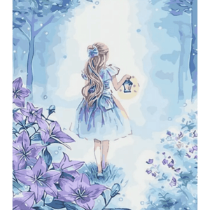 Girl In Flower - Paint By Numbers Kit For Adults - Easy Paint By Number Kits for adults- DIY Miss