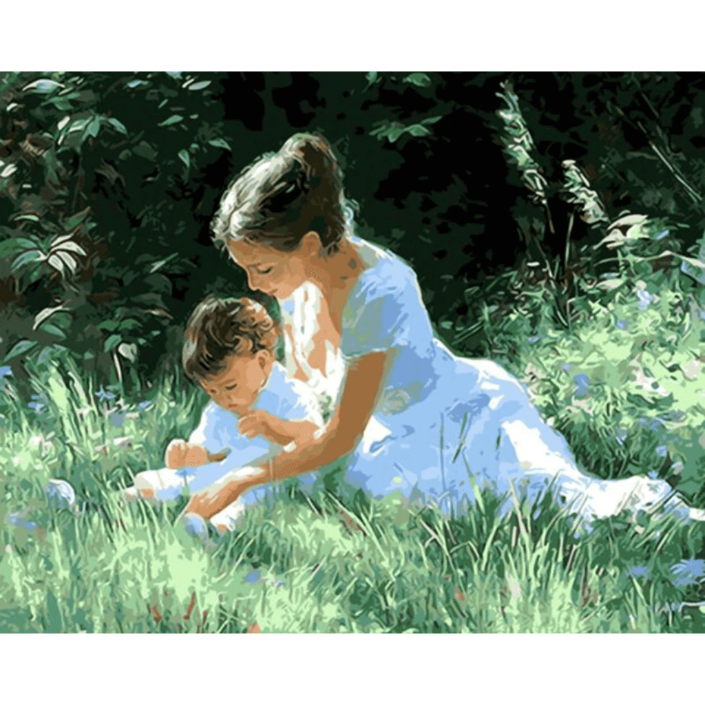Maternal Love - Paint By Numbers Kit For Adults - Easy Paint By Numbers - DIY Love