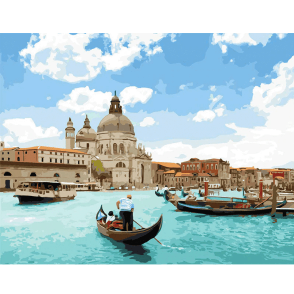 A Day in Venice - Paint By Numbers Kit For Adults - Easy Paint By Number Kits for adults- DIY Land
