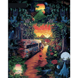 Deep Forest Road - Paint By Numbers Kit For Adults - Easy Paint By Number Kits for adults- DIY Land