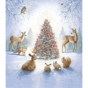 Deers & Christmas Tree - Paint By Numbers Kit For Adults - Easy Paint By Number Kits for adults- DIY Snow