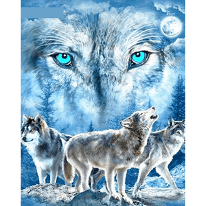 Watch Wolf - Paint By Numbers Kit For Adults - Easy Paint By Number Kits for adults- DIY Animals
