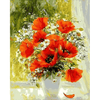 Red & White Flowers - Paint By Numbers Kit For Adults - Easy Paint By Number Kits for adults- DIY Flowers