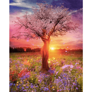 Romantic Tree - Paint By Numbers Kit For Adults - Easy Paint By Numbers - DIY Land
