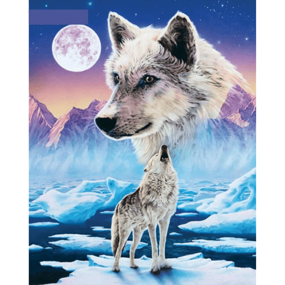 Children Wolf - Paint By Numbers Kit For Adults - Easy Paint By Numbers - DIY Animals