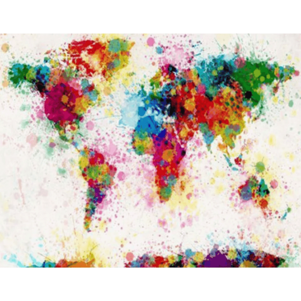 Colorful World - Paint By Numbers Kit For Adults - Easy Paint By Number Kits for adults- DIY Miss