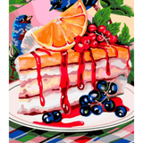 Colorful Dessert Plate - Paint By Numbers Kit For Adults - Easy Paint By Numbers - DIY Kids
