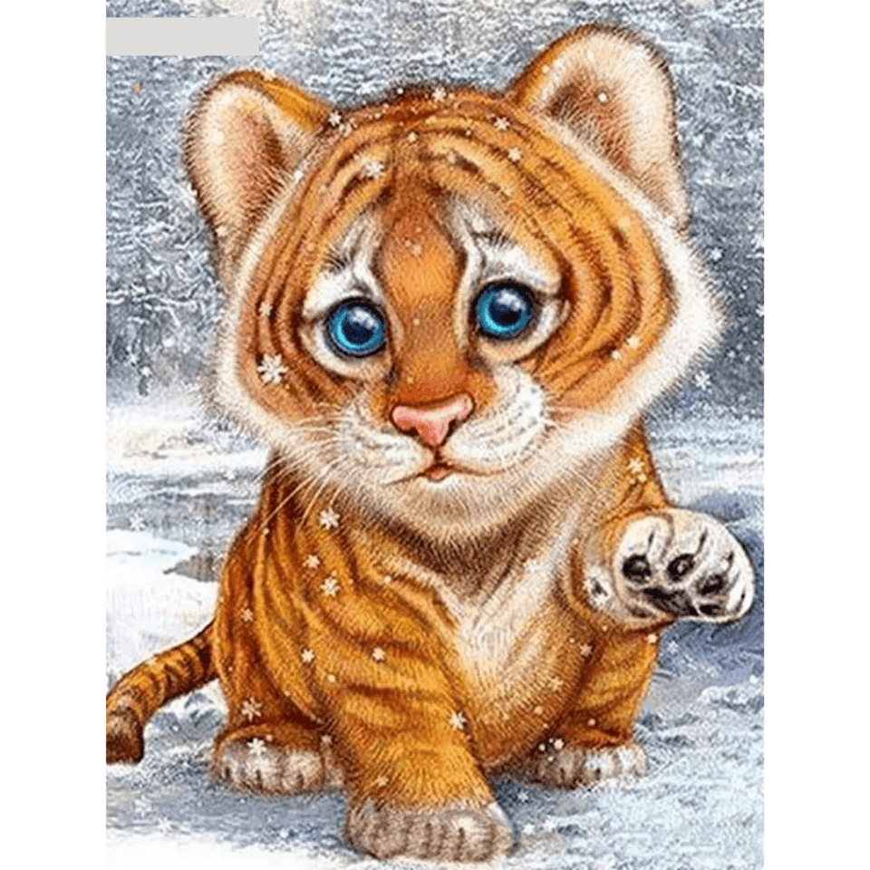 Sad Tiger - Paint By Numbers Kit For Adults - Easy Paint By Numbers - DIY Animals