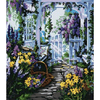 Flower House - Paint By Numbers Kit For Adults - Easy Paint By Number Kits for adults- DIY Flowers