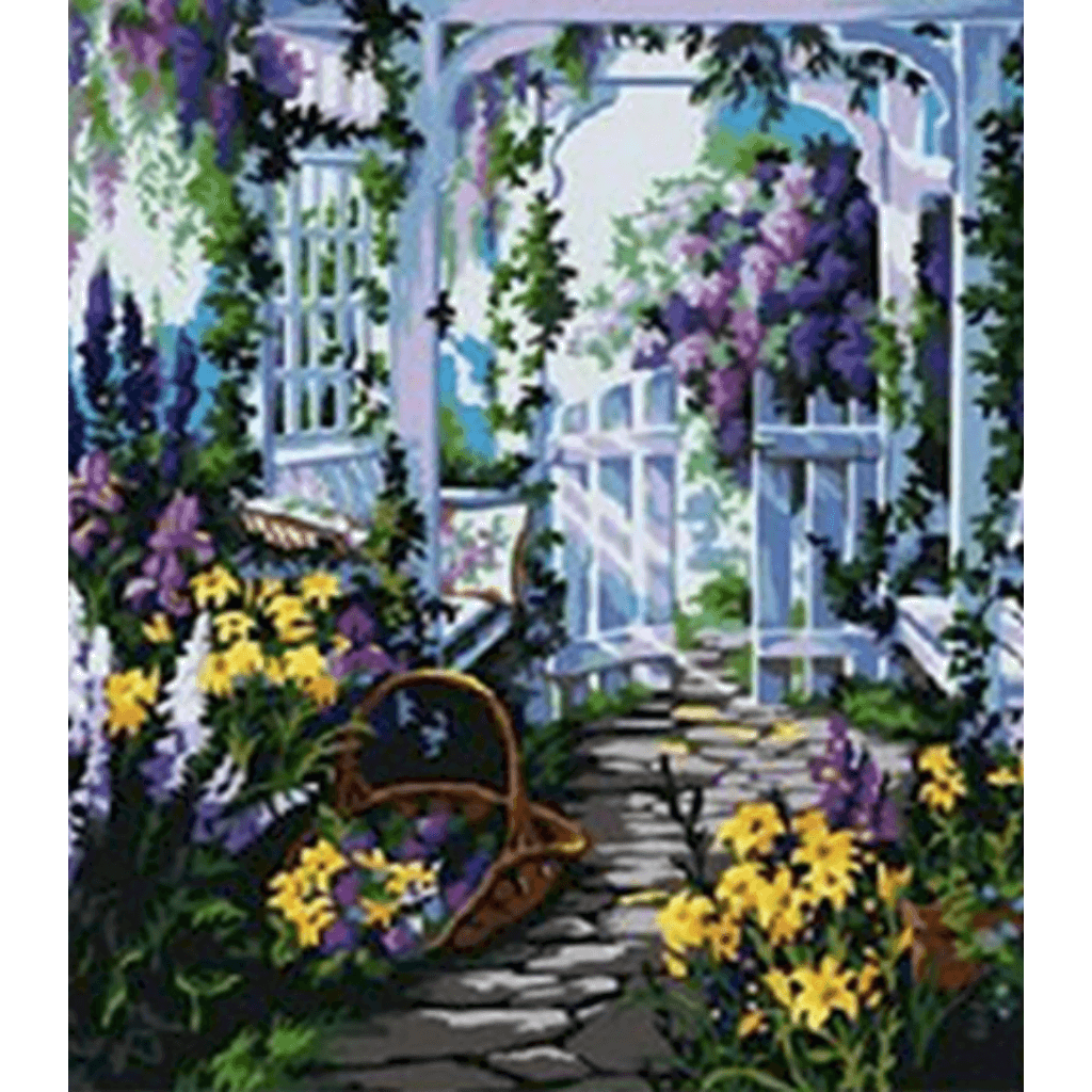 Flower House - Paint By Numbers Kit For Adults - Easy Paint By Numbers - DIY Flowers