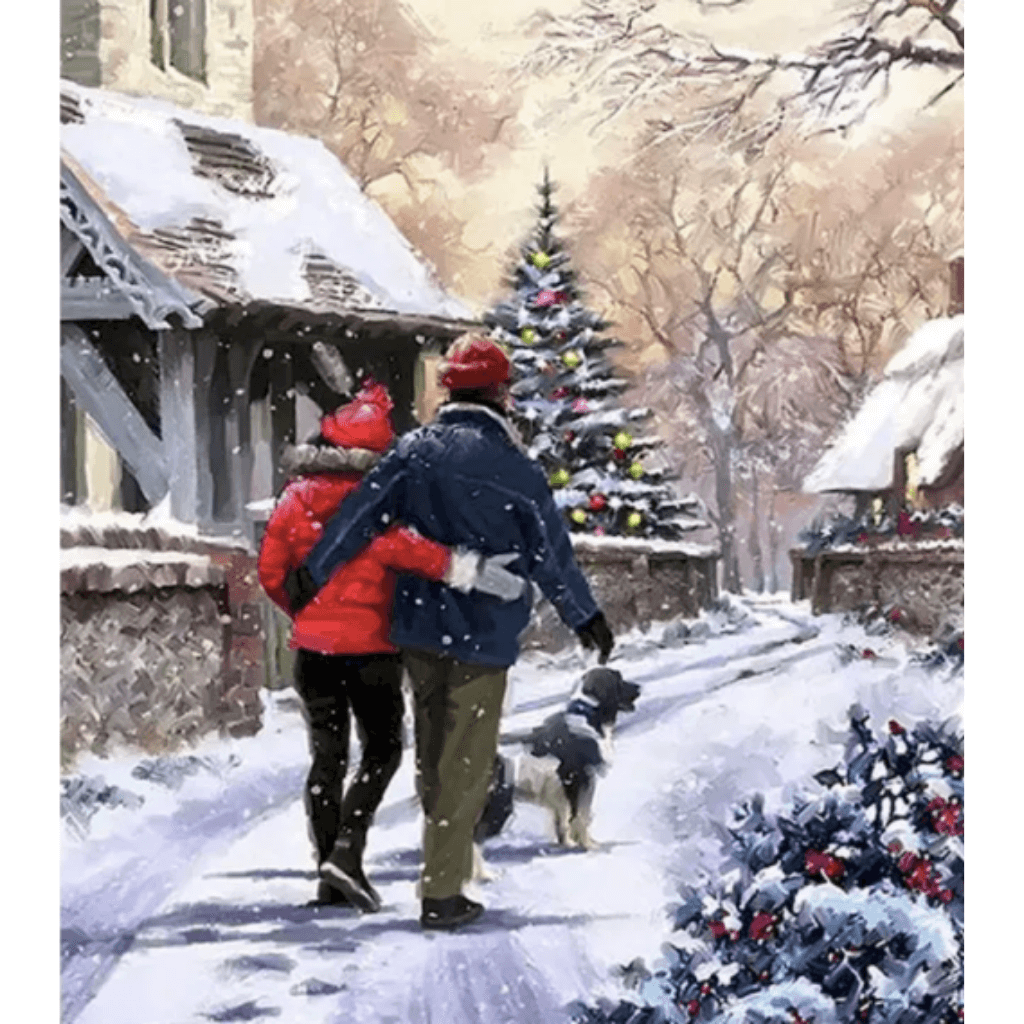 Winter Snow Day - Paint By Numbers Kit For Adults - Easy Paint By Numbers - DIY Snow
