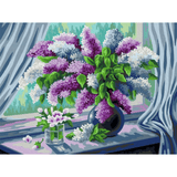 Purple Vase - Paint By Numbers Kit For Adults - Easy Paint By Numbers - DIY Flowers