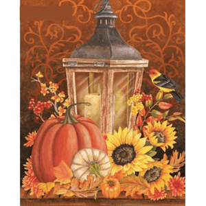 Sunflower And Pumpkin - Paint By Numbers Kit For Adults - Easy Paint By Numbers - DIY Land