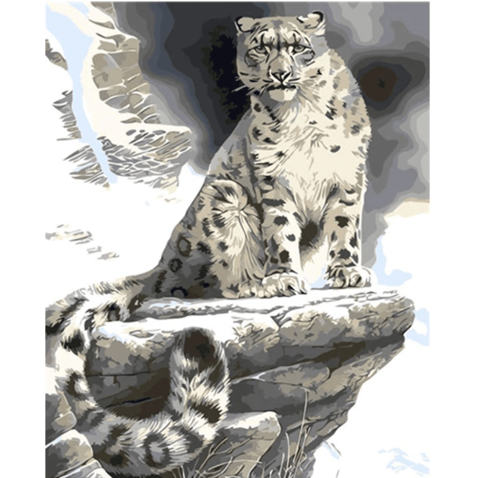 Waiting Leopard - Paint By Numbers Kit For Adults - Easy Paint By Number Kits for adults- DIY Animals