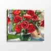 Red Flowers - Paint By Numbers Kit For Adults - Easy Paint By Number Kits for adults- DIY Flowers